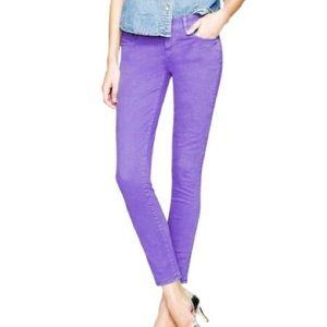J. CREW | sz 25 toothpick ankle jeans in purple